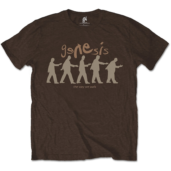 Genesis - The Way We Walk Unisex Small T-Shirt - Brown