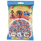 Hama - 1000 Beads in Bag (Striped Mix)