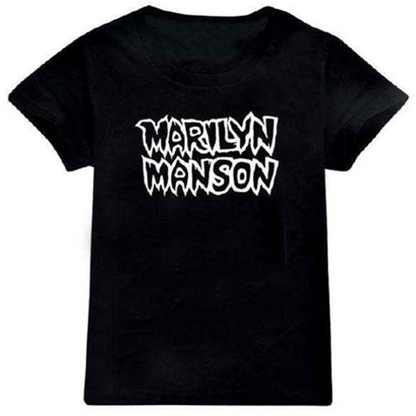 Marilyn Manson - Classic Logo Kids 5 - 6 Years T-Shirt - Black
