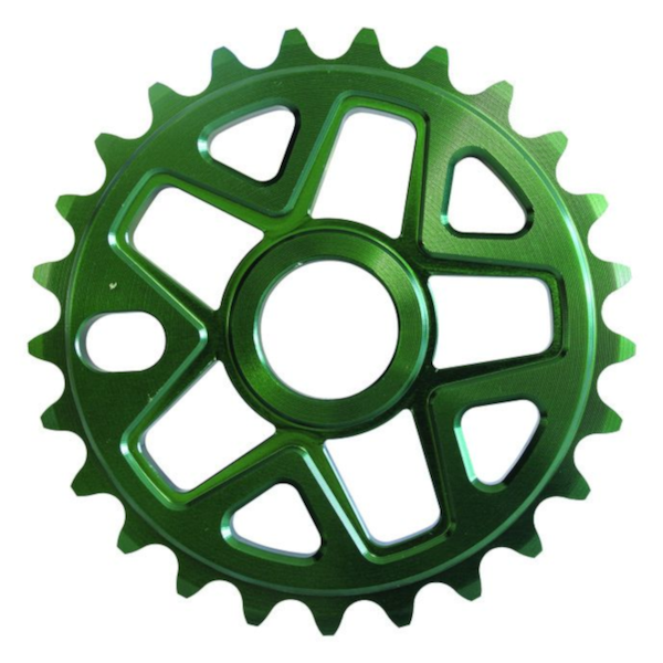 Savage BMX Alloy Sprocket 28 Teeth Green