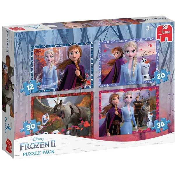 Disney Frozen II 4 In 1 Jigsaw Puzzle Pack