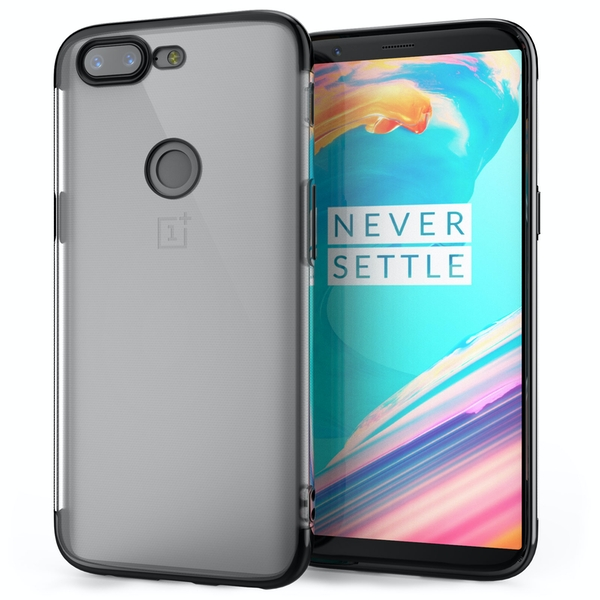 OnePlus 5T Shockproof Gel Case Black - Image 1