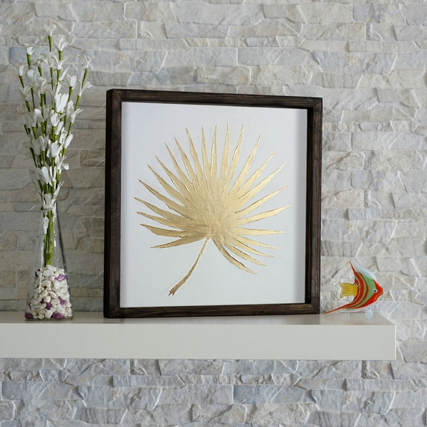 KZM210 Brown White Yellow Decorative Wooden Wall Accessory