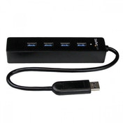 StarTech 4 Port Portable SuperSpeed USB 3.0 Hub with Built-in Cable