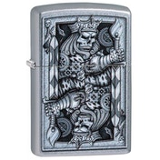 Zippo Steampunk King Spade Street Chrome Windproof Lighter