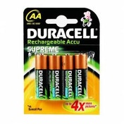 Duracell Rechargeable Supreme AA 2400 mAh 4 Pack Batteries