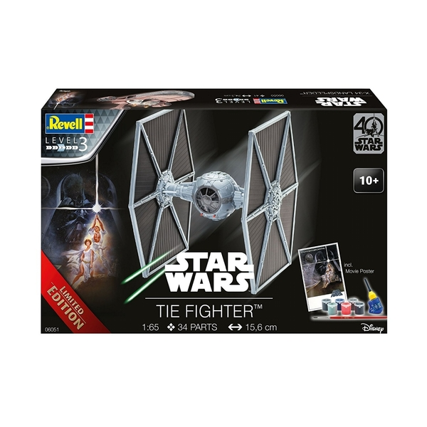 TIE Fighter (Star Wars 40 Years) 1:65 Scale Level 3 Limited Edition Revell  Model Kit