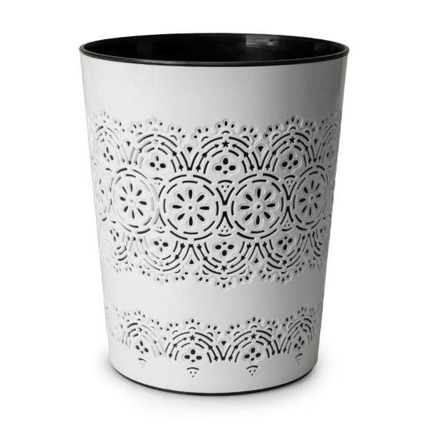 Blue Canyon Flora Waste Bin White