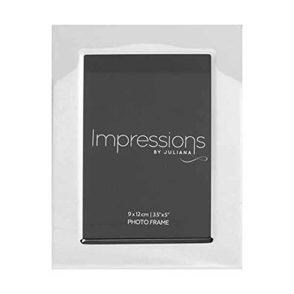 "3.5"" x 5"" - Impressions Silver Plated Photo Frame"