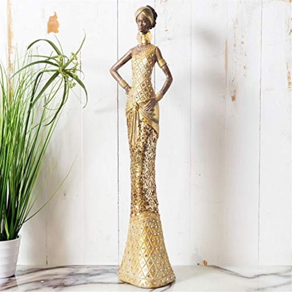 Hestia Gold Collection - Lady Figurine Hands on Hips 52cm