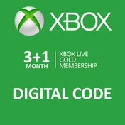 Xbox Live Gold 3 + 1 Month Membership Card Xbox 360 and Xbox One Digital Download