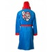 Nintendo Super Mario Bros. Men's Small/Medium Mario Bath Robe with Hood - Blue/Red - Image 2