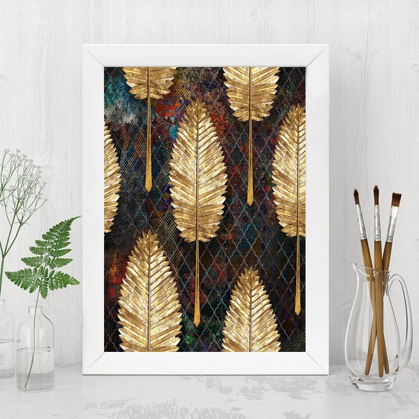 BC1588173010 Multicolor Decorative Framed MDF Painting