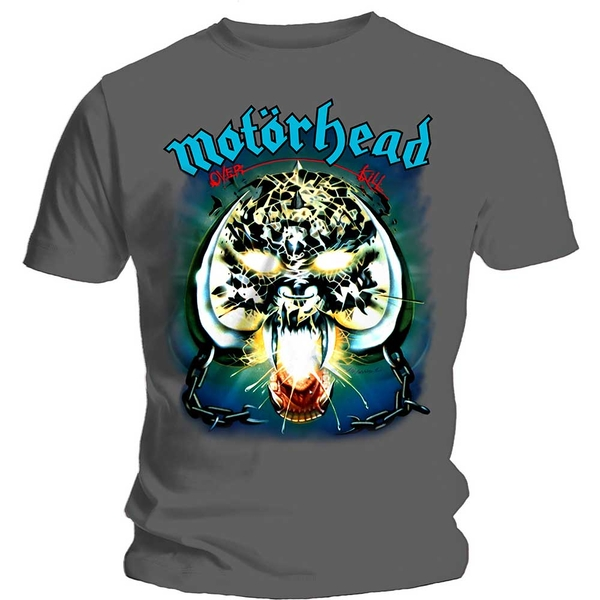 Motorhead - Overkill Unisex Medium T-Shirt - Grey