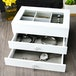 White Beauty Box with Glass Lid | M&W - Image 2