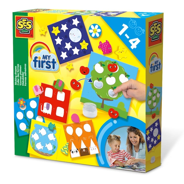 SES Creative - Children's My First Sticking Shapes Set (Multi-colour)
