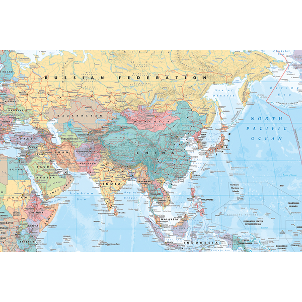Asia Middle East Map Maxi Poster Shop4ie Com