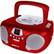 Groov-e GVPS713RD Boombox Portable CD Player with Radio Red UK Plug