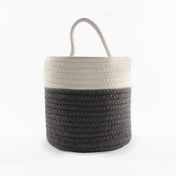 Hanging Cotton Rope Basket | M&W Grey & White