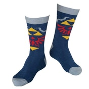 Nintendo Legend of Zelda Skyward Sword Royal Crest Men's Crew Socks 43/46