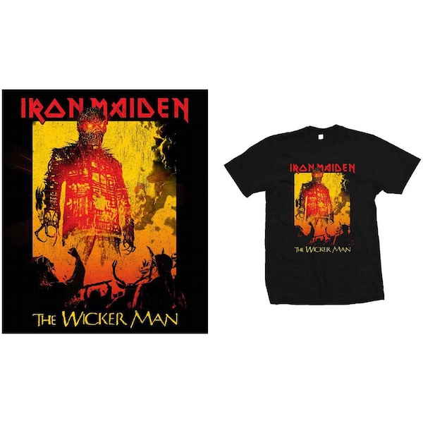 Iron Maiden - The Wicker Man Fire Men's Medium T-Shirt - Black