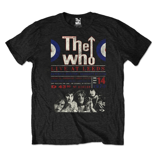 The Who - Live At Leeds '70 Unisex Medium T-Shirt - Black