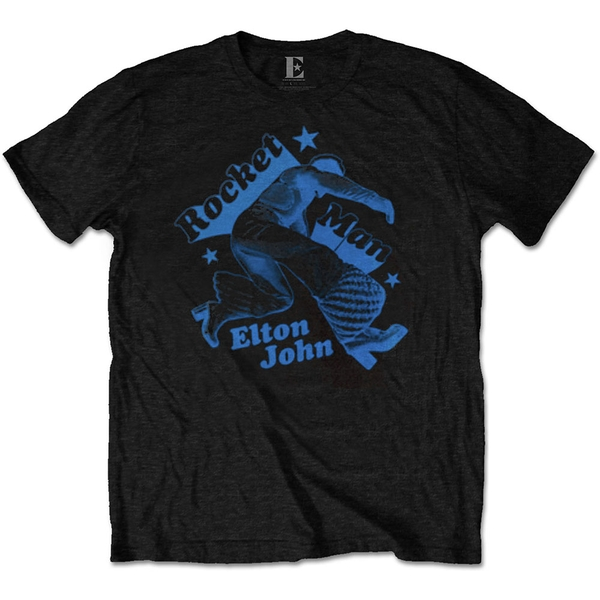 Elton John - Rocketman Jump Men's Large T-Shirt - Black