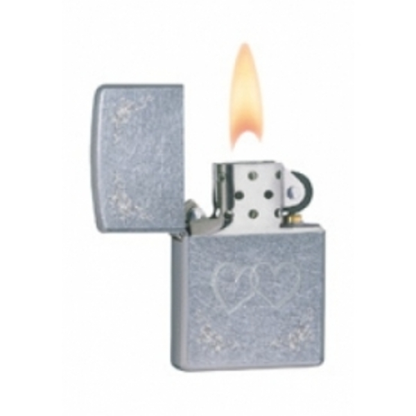 Zippo Heart To Heart Street Chrome Windproof Lighter - Image 2