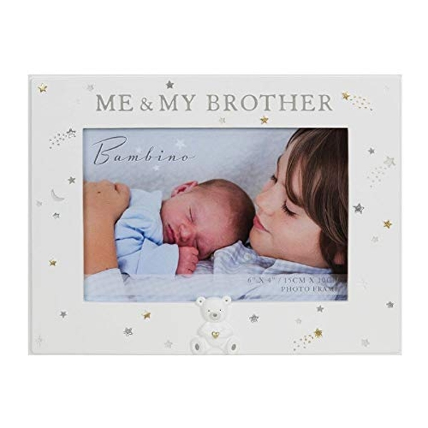 """6"""" x 4"""" - Bambino Resin Me & My Brother Photo Frame"""