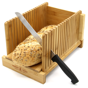 Bamboo Bread Slicer Guide Cutting Board M&W