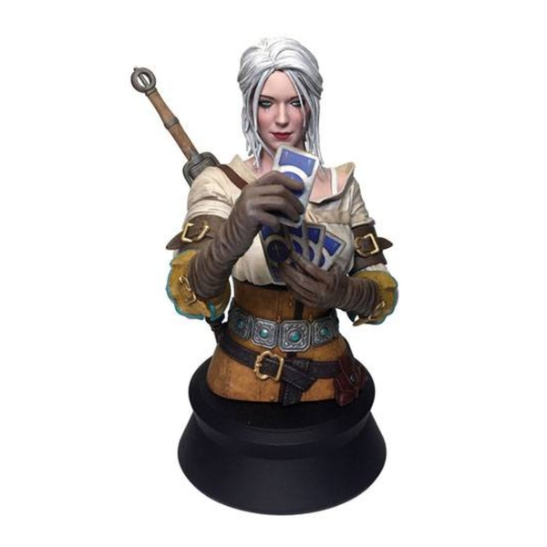 Ciri Playing Gwent Witcher 3 Wild Hunt Bust