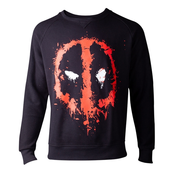 Marvel Comics - Dripping Mask Men's Large Sweater - Black