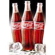 Coca Cola 3 Bottles Ice Maxi Poster