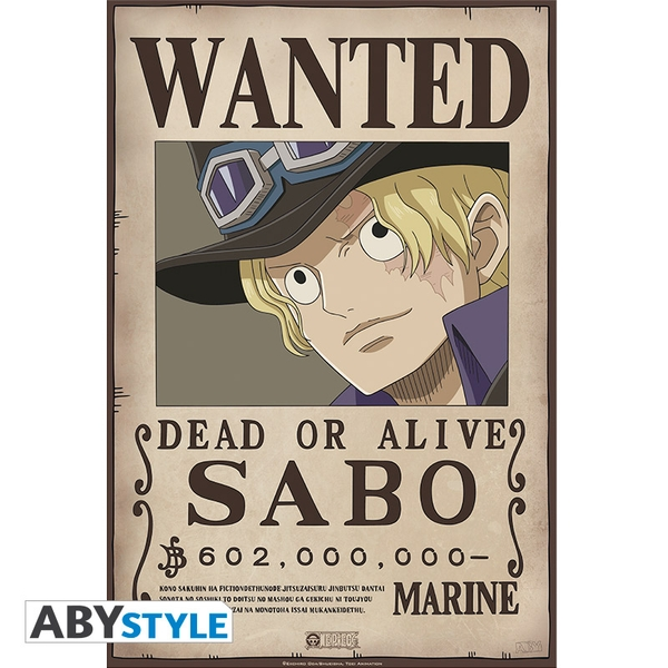 One Piece - Wanted Sabo Poster