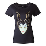 Disney - Maleficent Face Women's Small T-Shirt - Black