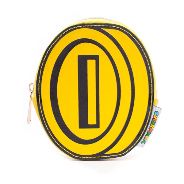 Nintendo - Coin Shaped Women's One Size Wallet - Yellow/Black