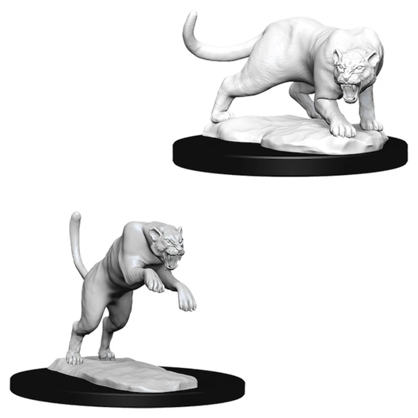 Dungeons & Dragons Nolzur's Marvelous Unpainted Miniatures (W6) Panther & Leopard