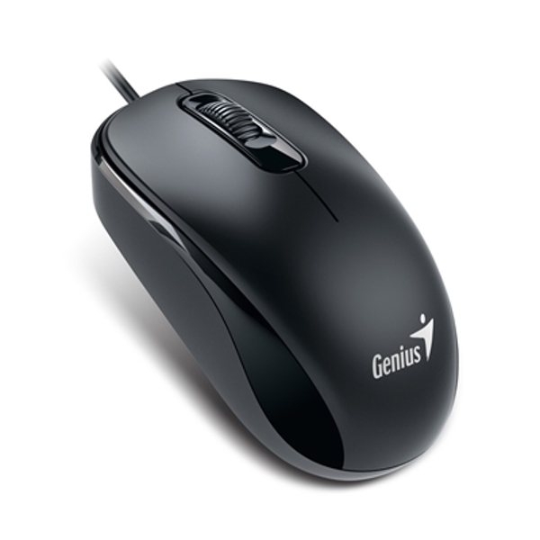 Genius DX-110 Black USB Full Size Optical Mouse - Image 1