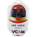 VCOM 2.0 A (M) to USB 2.0 A (F) 5m Black Retail Packaged Extension Data Cable - Image 2
