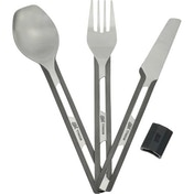 Esbit 3 Piece Titanium Cutlery Set with Silicone Sleeve