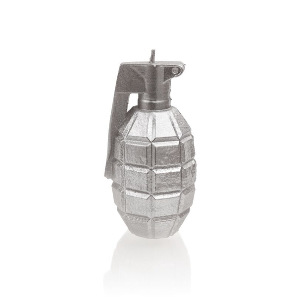 Silver Small Grenade Candle