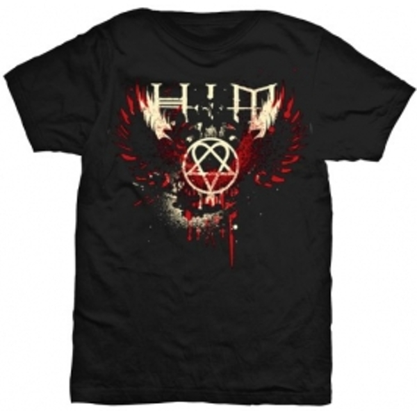 HIM Wings Splatter Mens TS: X Large