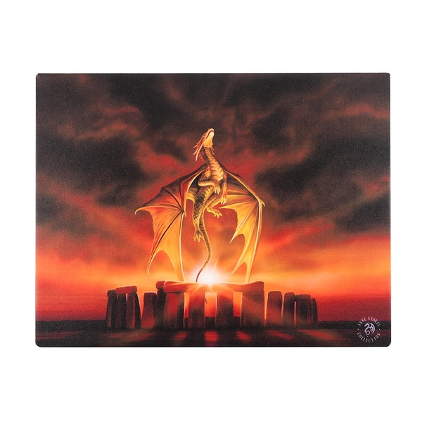 25x19 Solstice Canvas Plaque by Anne Stokes