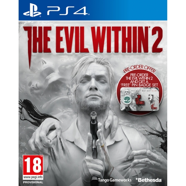 The Evil Within 2 PS4 Game (with Pin Badge Set)
