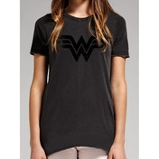Wonder Woman - Vintage Logo Women's Large T-Shirt - Black