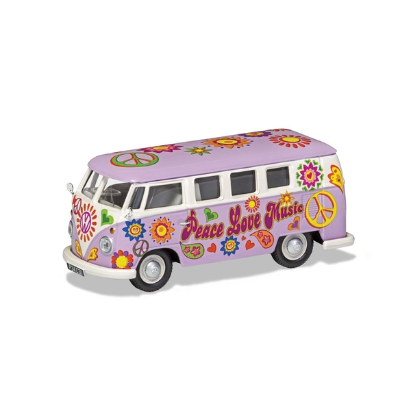 Peace Love and Music Volkswagen Campervan Corgi 1:43 Model Van