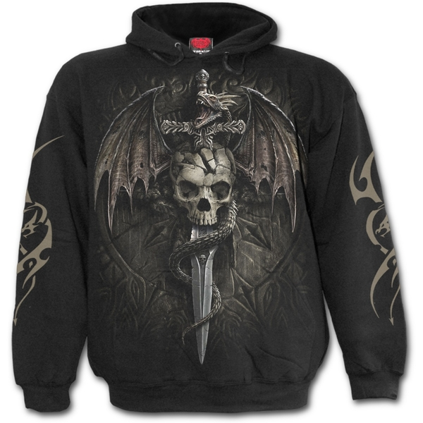 Draco Skull Men's Medium Hoodie - Black