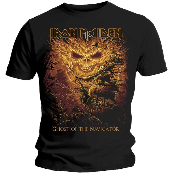 Iron Maiden - Ghost of the Navigator Unisex Large T-Shirt - Black