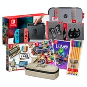 Nintendo Switch Console with Neon Red & Blue Joy-Con Controllers Labo Mega Bundle