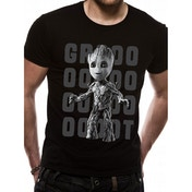 Guardians Of The Galaxy 2 - Groot Photo Men's X-Large T-Shirt - Black